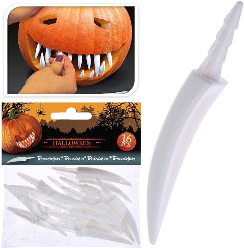 Græskar tænder 16-pak