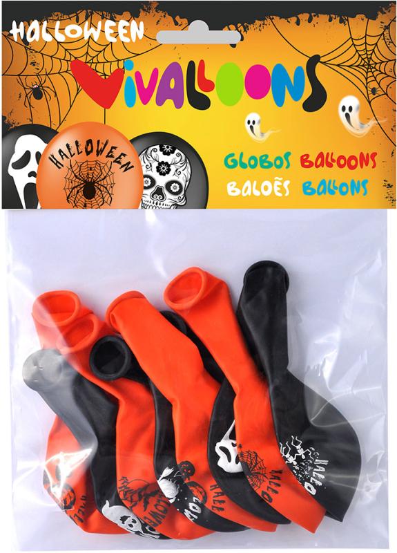 Halloween balloner 8-pak