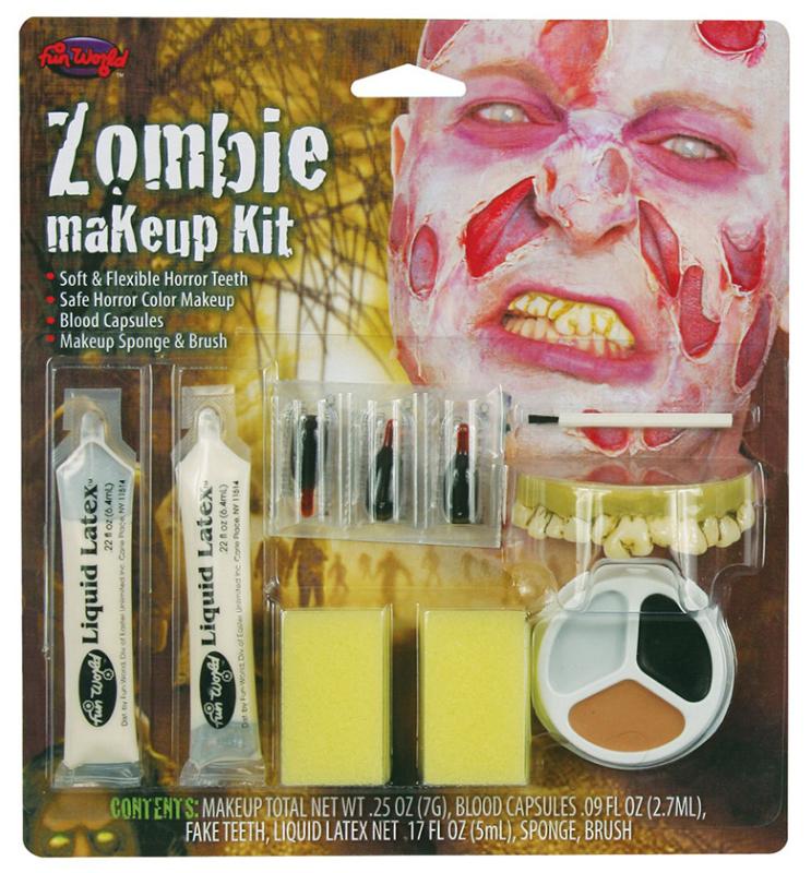 Zombie mand makeup kit