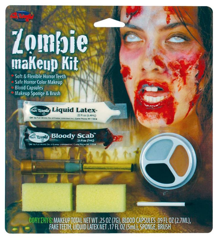Zombie kvinde makeup kit