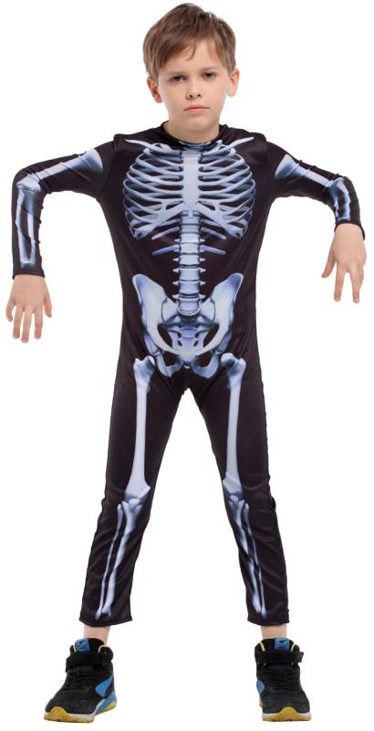 Skelet heldragt, 130-140 cm
