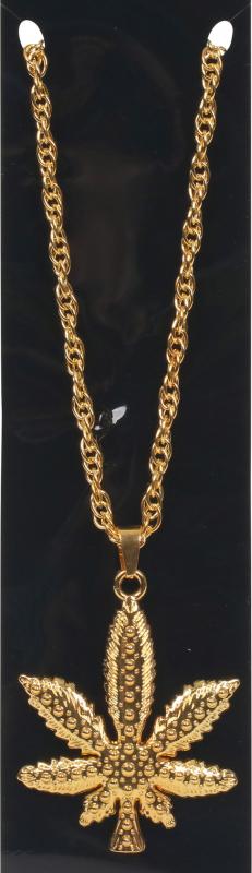 Billede af Hash-blad halskæde, guld