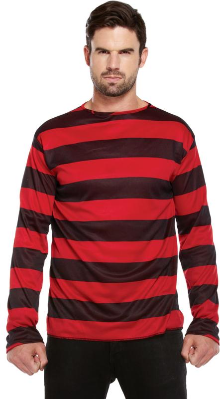 Freddy-trøje, rød/sort