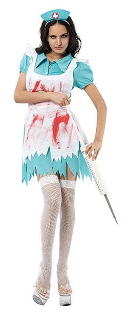 Blodig sygeplejerskekostume