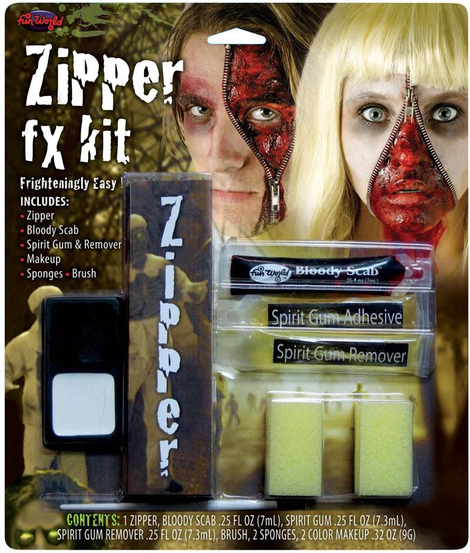Blodig lynlås makeup kit