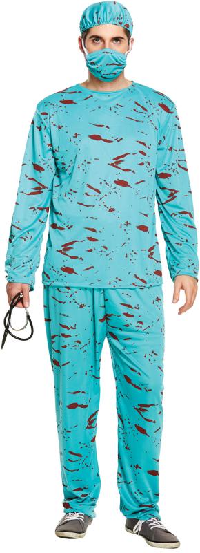 Blodig kirurg kostume
