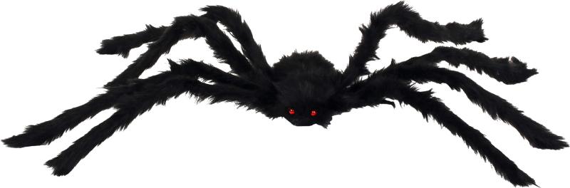 Behåret edderkop sort 90 cm