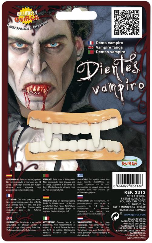 Vampyr tænder latex, 2 dele